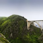 Bixby Bridge Panorama California Coast