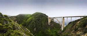Bixby Bridge Panorama California Coast