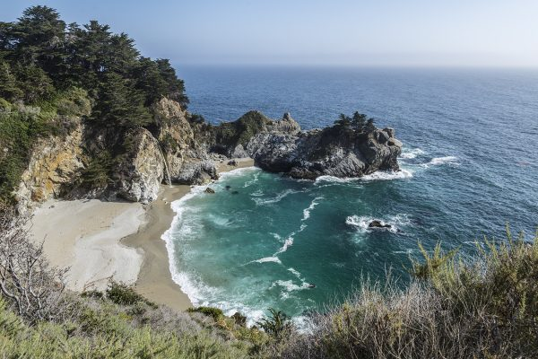 Mcway Falls California Coast Big Sur