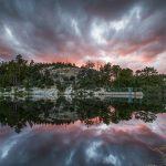Mt. Lemmon Rose Canyon Lake sunset reflection